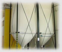 Гибкие силосы для централизованного хранения сырья (Италия) New Omap