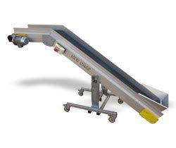 Ленточные конвейеры из алюминия с переходом плоскости серии NCRS (Италия) New Omap