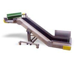 Ленточные конвейеры из алюминия с переходом плоскости серии ND (Италия) New Omap